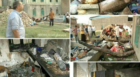 پنج شنبه گذشته یک خانه مسکونی در کوموش دپه دچار طعمه حریق شد